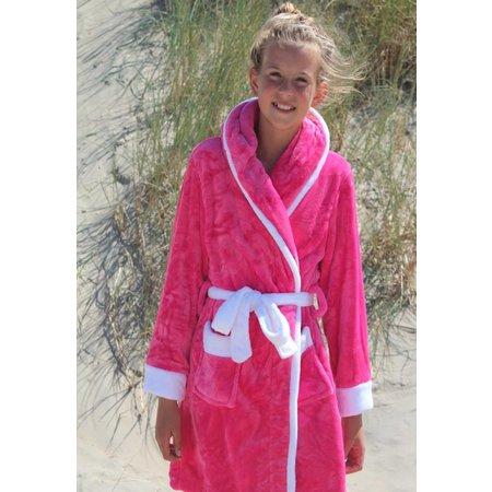 Badrock badjas badjas kind Little Pink fleece met capuchon