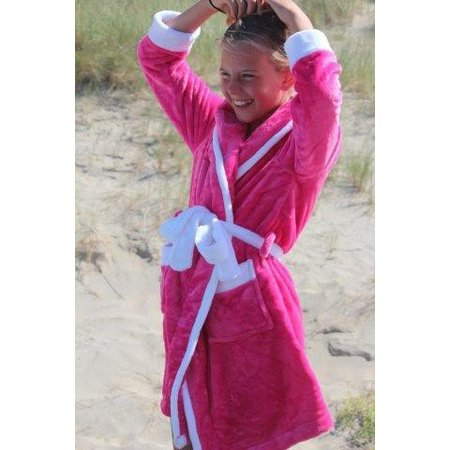 Badrock badjas kind Little Pink fleece met capuchon