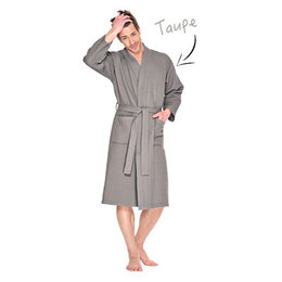 badjas unisex taupe kimono