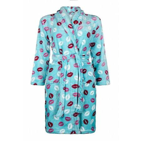 Badrock badjas kind Kusjes fleece met sjaalkraag