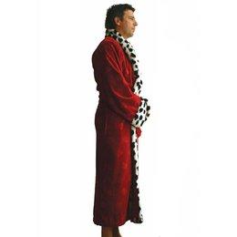 Funky Badjas herenbadjas King rood met sjaalkraag