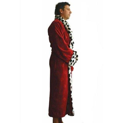 Funky  herenbadjas King rood met sjaalkraag