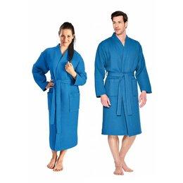 badjas unisex kobaltblauw kimono