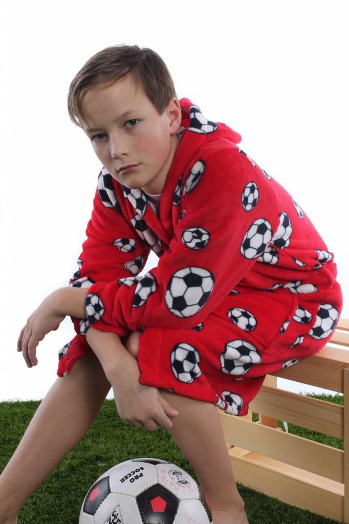 Citaten Zoon Win 10 : Badjas kind voetbal rood capuchon fleece jongens en