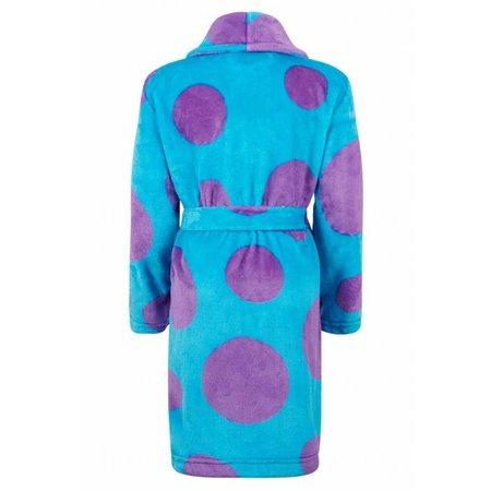 Badrock badjas badjas kind Mega Stippen fleece met sjaalkraag