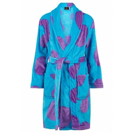 Badrock badjas kind Mega Stippen fleece met sjaalkraag