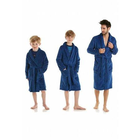 Eskimo badjas badjas kind Blauw fleece met sjaalkraag