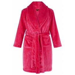 Badrock badjas badjas kind Hardroze met sjaalkraag
