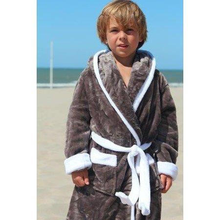 Badrock badjas kind Grijs met capuchon