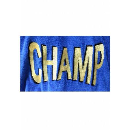 Funky  herenbadjas Champ blauw katoen met capuchon