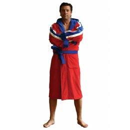 Funky Badjas herenbadjas Champ rood met capuchon