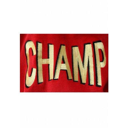 Funky  herenbadjas Champ rood katoen met capuchon