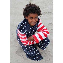 Badrock badjas kind USA met sjaalkraag