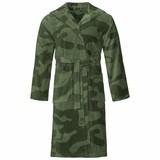 Vossen badjas unisex groen Legerprint met capuchon