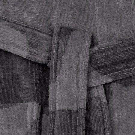 Vossen badjas badjas unisex grijs Legerprint katoen met capuchon