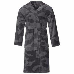 Vossen badjas badjas unisex grijs Legerprint met capuchon