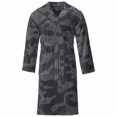 Vossen badjas unisex grijs Legerprint met capuchon