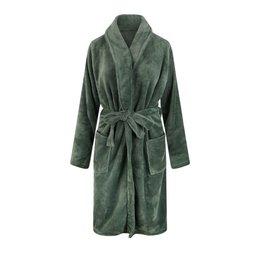 Relax Company fleece badjas olijfgroen