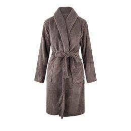 Relax Company fleece badjas taupe