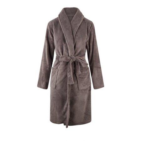 Relax Company Relax Company fleece badjas taupe