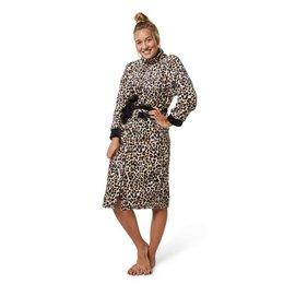 Badrock badjas panterbadjas fleece met rits