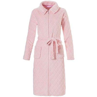 Pastunette licht roze damesbadjas met rits