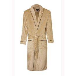 Paul Hopkins badjas badjas heren beige met sjaalkraag