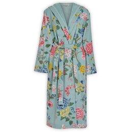 Pip Studio Blauwe badjas  met bloemen