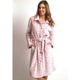 Zacht roze badjas met bubbels