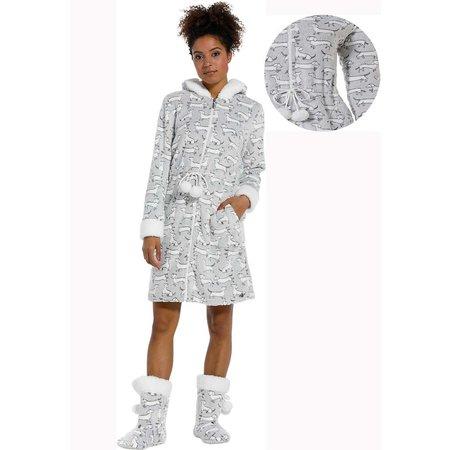 Rebelle damesbadjas teckels - fleece