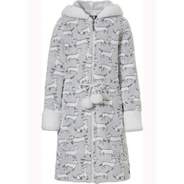 Rebelle rits kinderbadjas hondjes- fleece