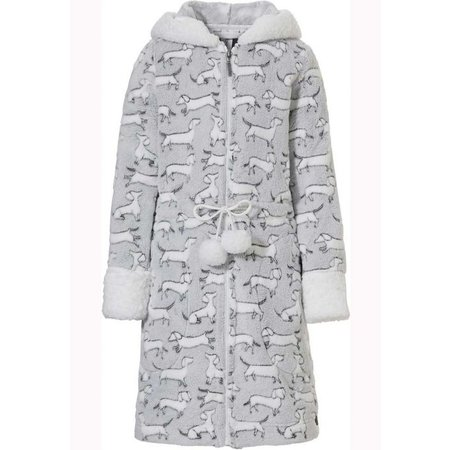Rebelle Rits kinderbadjas hondjes - fleece