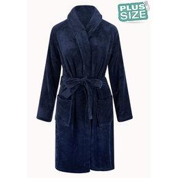 Relax Company Badjas extra  groot - donkerblauw