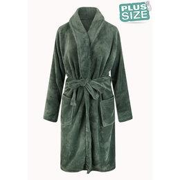 Relax Company badjas Badjas extra groot - olijfgroen