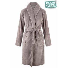 Relax Company badjas Badjas extra groot - lichtgrijs/taupe