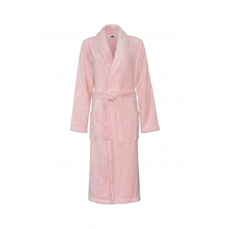 Relax Company  fleece badjas pastel oud roze