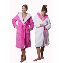 Badrock badjas Capuchon badjas sherpa - roze