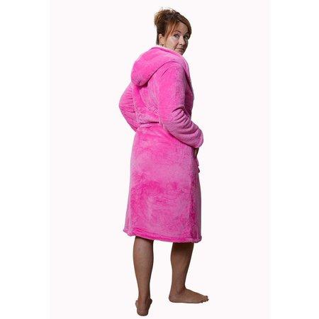 Badrock Capcuhon badjas sherpa - roze