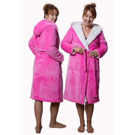 Capcuhon badjas sherpa - roze