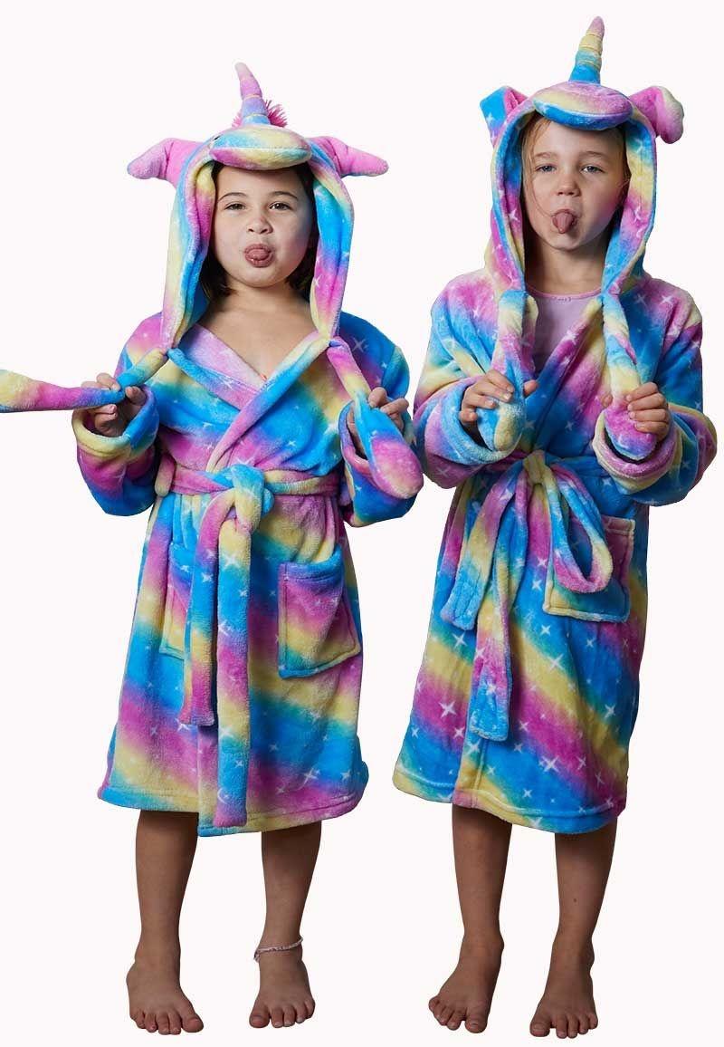 Magie op de vroege ochtend: een unicorn badjas!