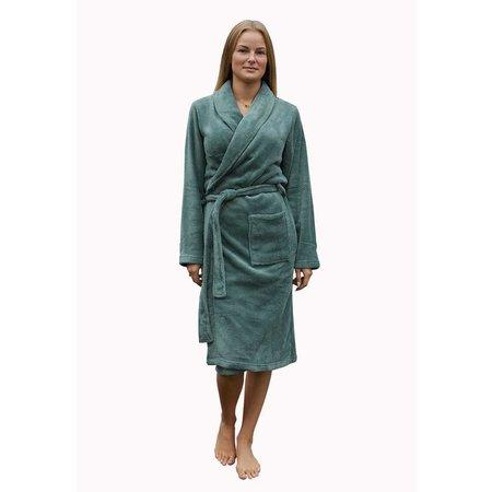 Relax Company badjas fleece badjas olijfgroen