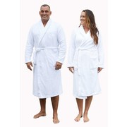 Relax Company  fleece badjas wit