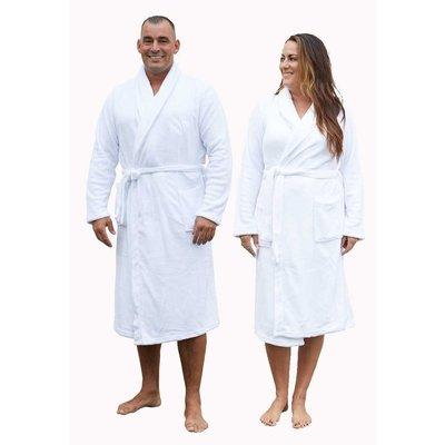 Relax Company badjas fleece badjas wit