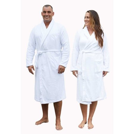 Relax Company badjas Relax Company fleece badjas wit