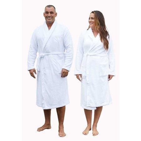 Relax Company Relax Company fleece badjas wit