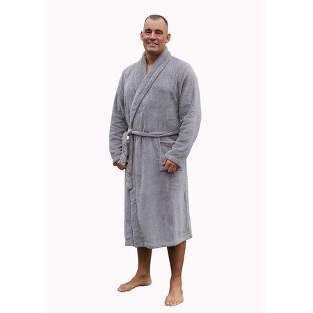 Relax Company badjas fleece badjas licht blauw