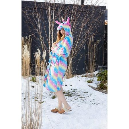 Badrock badjas Dames ochtendjas unicorn