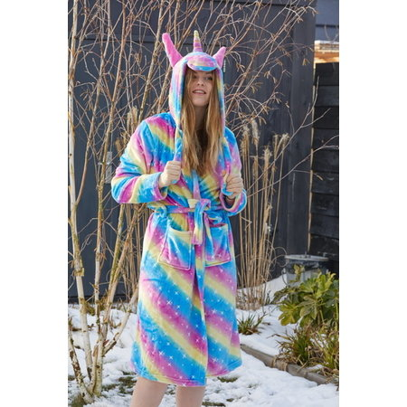 Badrock Dames ochtendjas unicorn