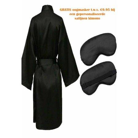 Satin-Luxury Oogmasker zwart satijn