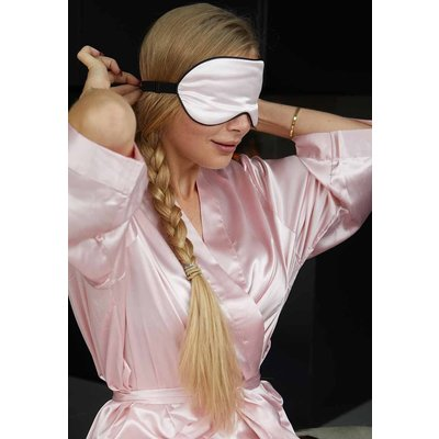Satin-Luxury Oogmasker licht roze satijn